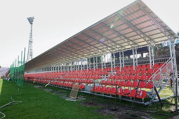 Nowa trybuna na stadionie ŁKS przy al. Unii.