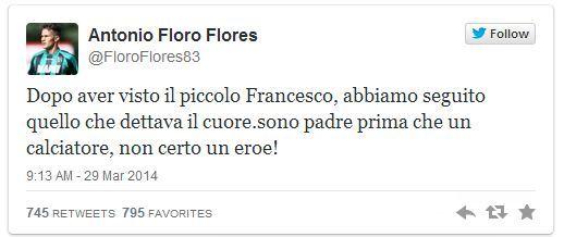 Antonio Floro Flores zaadoptował porzucone niemowlę