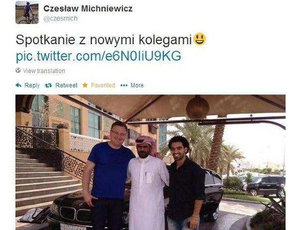 Tweet Czesława Michniewicza