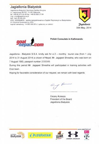 Jagjeet Shrestha będzie sprawdzany przez Jagiellonię Białystok