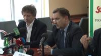Konferencja prasowa Piotra Dudy