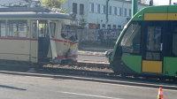 Poznań. Wypadek tramwajowy na Hetmańskiej