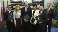 Podpisanie umowy koalicyjnej w Kaliszu