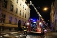Poznań. Pożar w kamienicy na Grobli