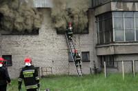Pożar w Tonsilu. Kłęby dymu nad Wrześnią