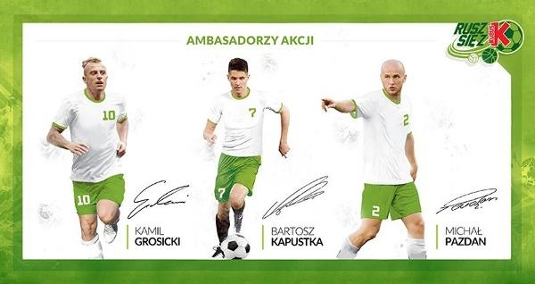 Kamil Grosicki, Bartosz Kapustka i Michał Pazdan