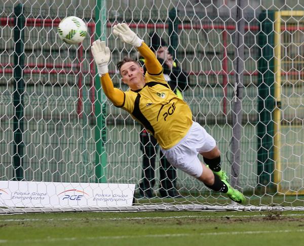 20-letni bramkarz Kamil Bruchajzer także solidnie punktuje dla PGE GKS Bełchatów w rankingu Pro Junior System