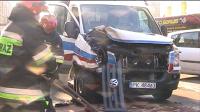 Wypadek w Kaliszu z udziałem karetki pogotowia